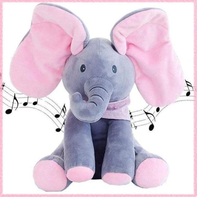 Talking Singing Peek a Boo Elephant Toy - Shock-Cart.co.uk