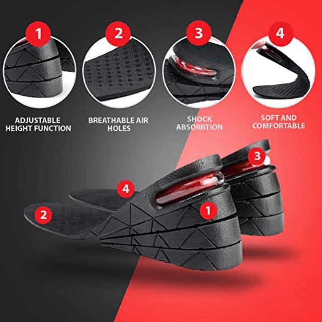 ShockCart  1.2 in UPFOOT™: Ultimate Height Boosting Insoles (pair)