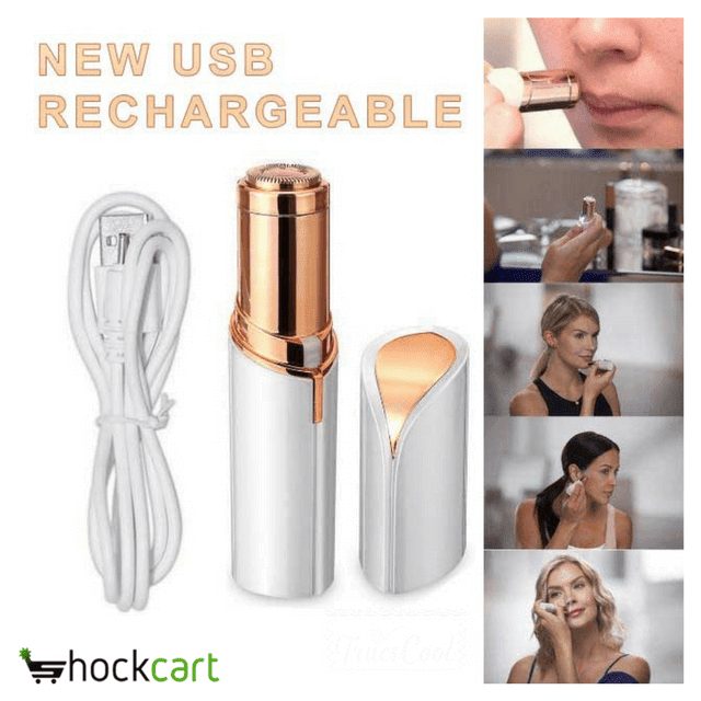 ShockCart White ZEROHAIR™: The New USB Rechargeable Hair Remover