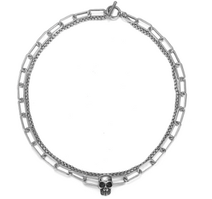 Double Layer Chain Skull