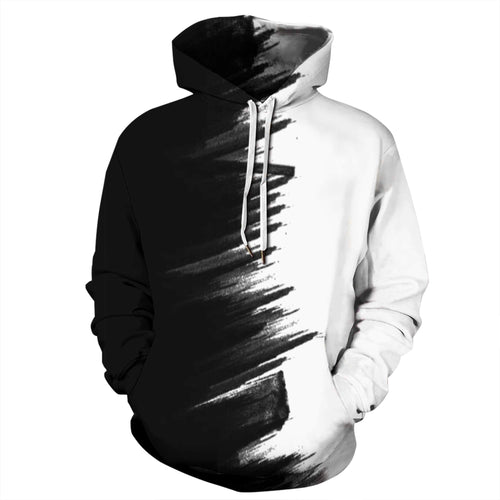 Black and White Space Galaxy hoodie
