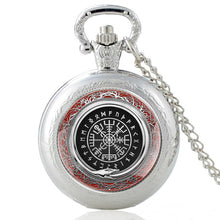 Load image into Gallery viewer, Vintage Viking Symbol Pattern Classic Quartz Pocket Watch