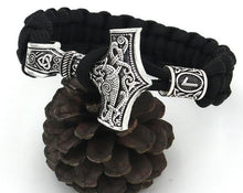 Load image into Gallery viewer, Norse Thor Hammer Mjolnir Charm Bracelet
