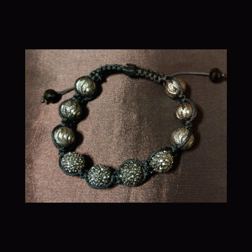 Bling sparkle crystal beaded bracelet