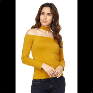 Off Shoulder Choker Shirt