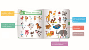 Animals page, Chinese Mandarin, Cantonese & English