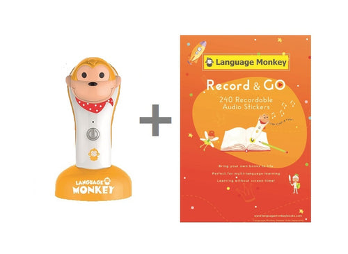 *NEW* Record & GO Box Set - Language Monkey Reader + 240 Recordable Audio Stickers