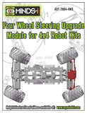 Four Wheel Steering Upgrade Module for 4x4 Robot Kits