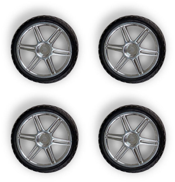 1/10 Scale Racecar Wheels and Tires (set of 4)