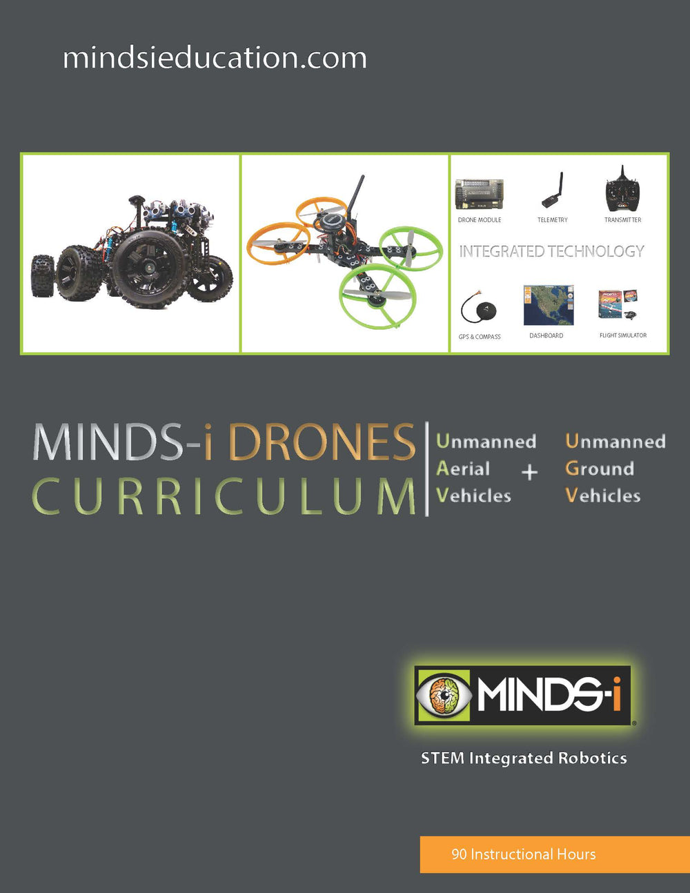 STEM Robotics UAV + UGV Drones Curriculum (90 Hour)