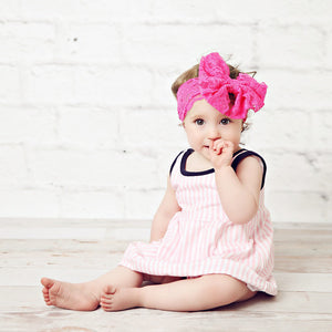 Pink Stripe Dress with Bloomer