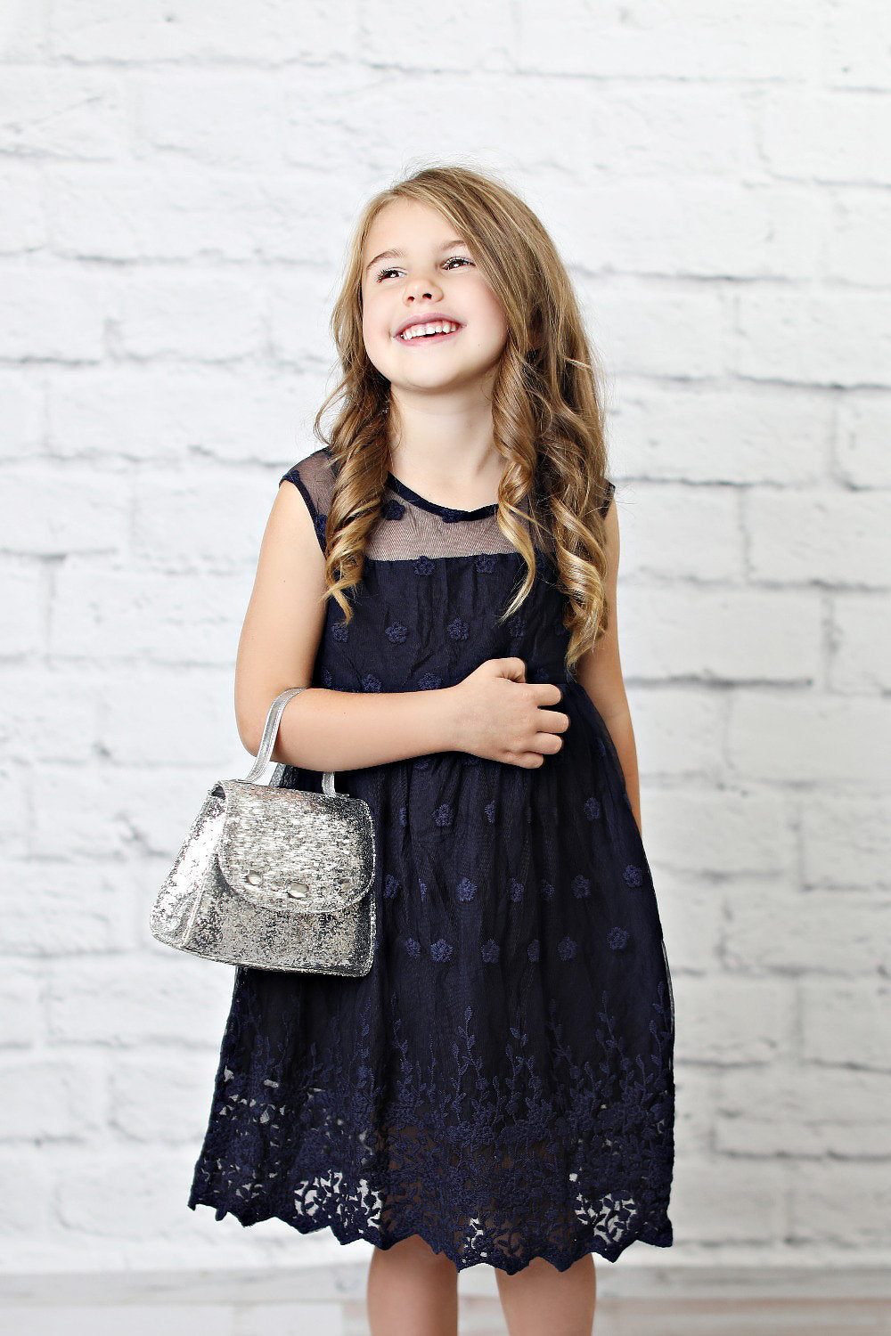 Brittney Dress in Navy