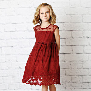 Brittney Dress in Wine