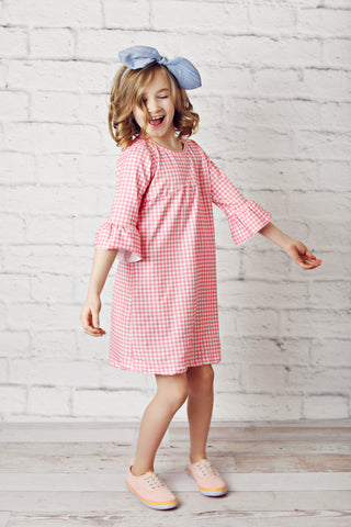 Pink Check Brooklyn Dress
