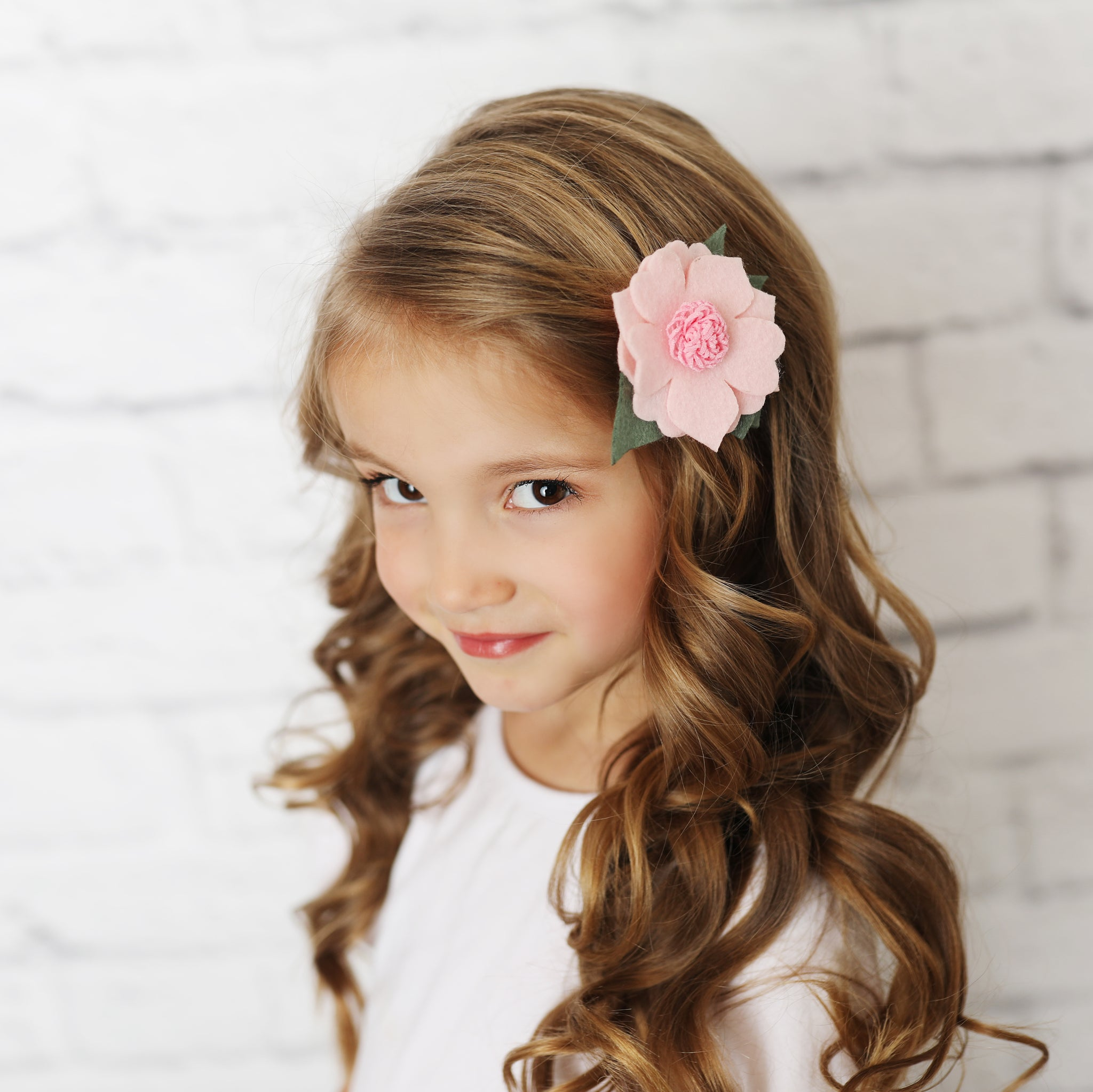 Light Pink Felt Hair Flower