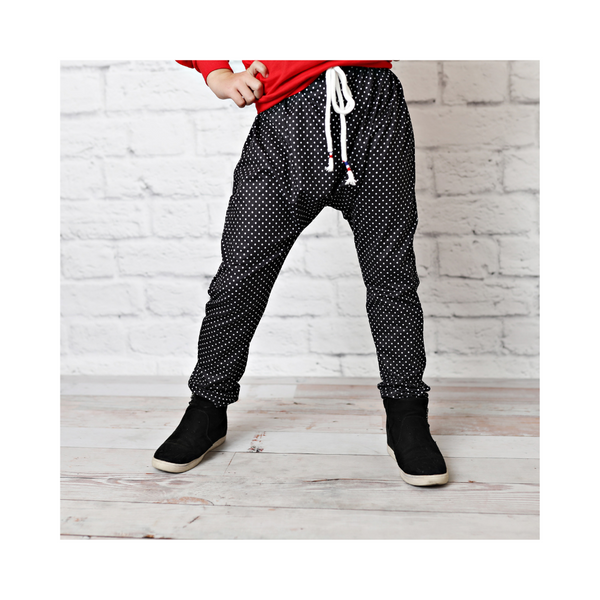 Black Polka Dot Harlem Pants