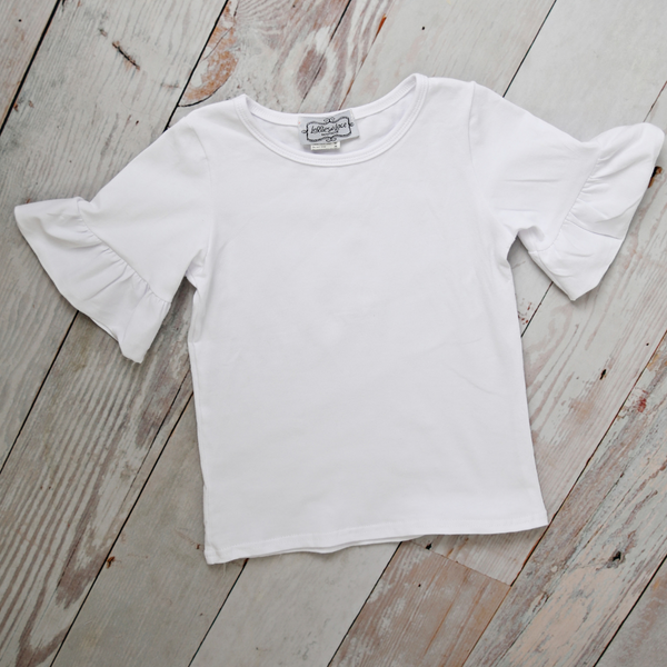 White Bell Sleeve Tee