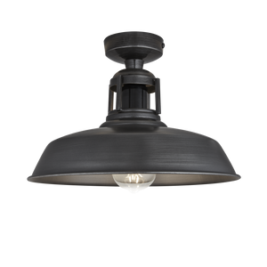 12 Inch Barn Slotted Flush Mount - Lighting - Industville