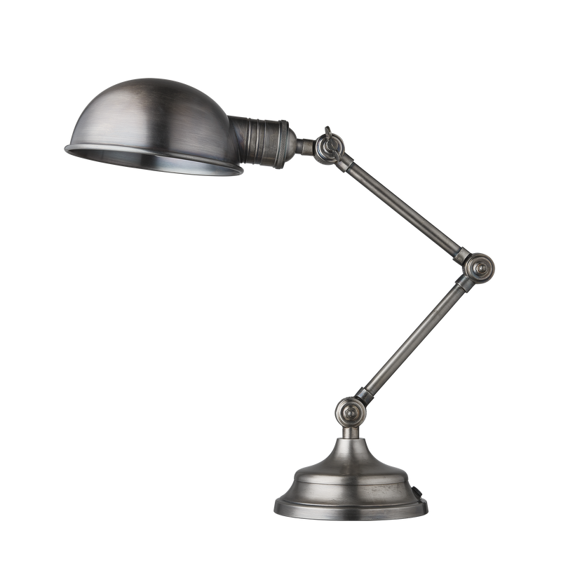 Brooklyn Pharmacy Adjustable Dome Table Lamp - 7 Inch - Gunmetal - Lighting - Industville