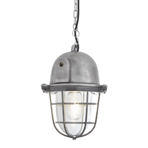 Bulkhead Cage Pendant - 11 Inch - Gunmetal - Lighting - Industville
