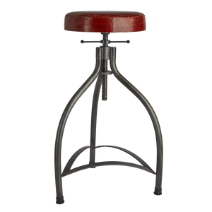 Cooper Leather & Metal Adjustable Bar Stool - 34 Inch - Furniture - Industville