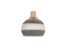 Load image into Gallery viewer, Serena Grey rattan pendant light. Anyone in need of some home jewelry? Then this dark grey rattan pendant light is a match! With ultimate gray of Pantone 2021 in mind, I designed this with a little bit darker with the same tone. The natural rattan will still maintain the neutral theme of the interior design. Visit shopmybaliliving.com for more rattan seagrass light.