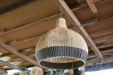 Load image into Gallery viewer, Markle Rattan Pendant Light Black and Natural