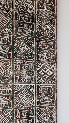 Moroccan Handcarved Wood Panel