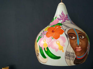 Jungalow Decorate Wild African Afro Woman Portrait