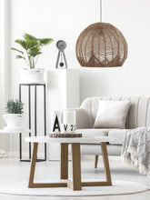 Load image into Gallery viewer, Jessica Rattan Pendant Light Interior Design Trend
