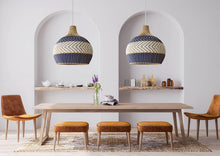 Load image into Gallery viewer, Serena Blue Rattan Pendant Light