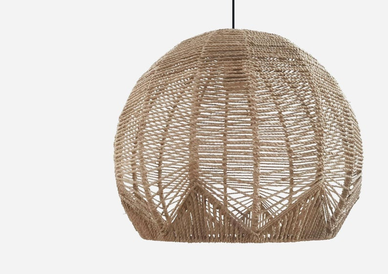 Jessica Rattan Pendant Light Interior Design Trend