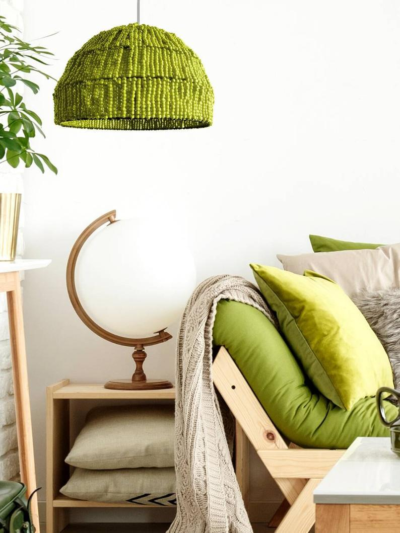 How to Decorating With Ryann Lime Green Color Pendant Light
