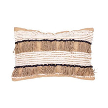 Load image into Gallery viewer, Raffia Burlap Natural Pillowcase