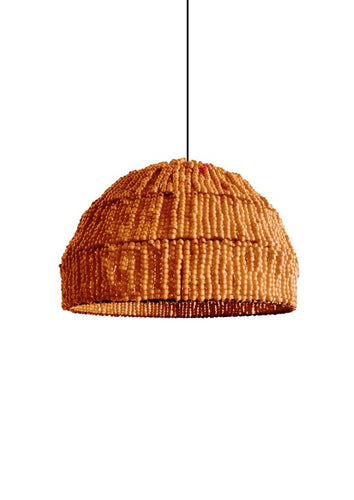 Donna Orange Pendant Light with Beads Chandelier Lighting