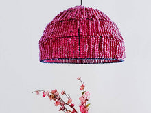 Load image into Gallery viewer, Kristi Maroon Burgundy Cherry Pink Red Beads Pendant Light Lighting