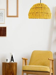 How to Decorating With Emily Yellow Earth Tones Pendant Light
