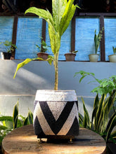 Load image into Gallery viewer, Balinese beaded basket box for plant vase