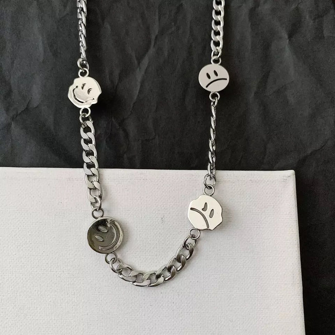 Silver Smiley Chain