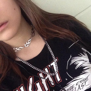Flame Necklace Choker