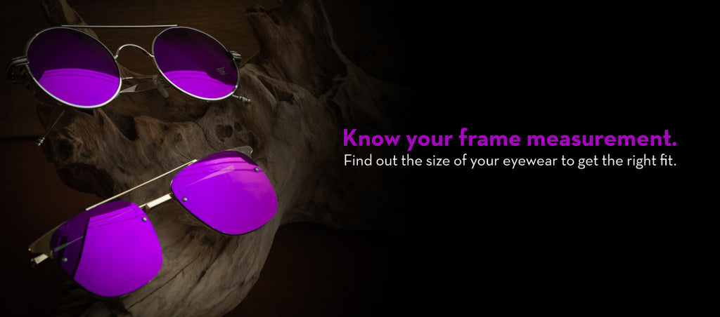 Know your frame measurement banner