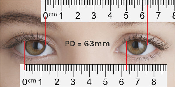 measure your child's Pupil Distance with ruler