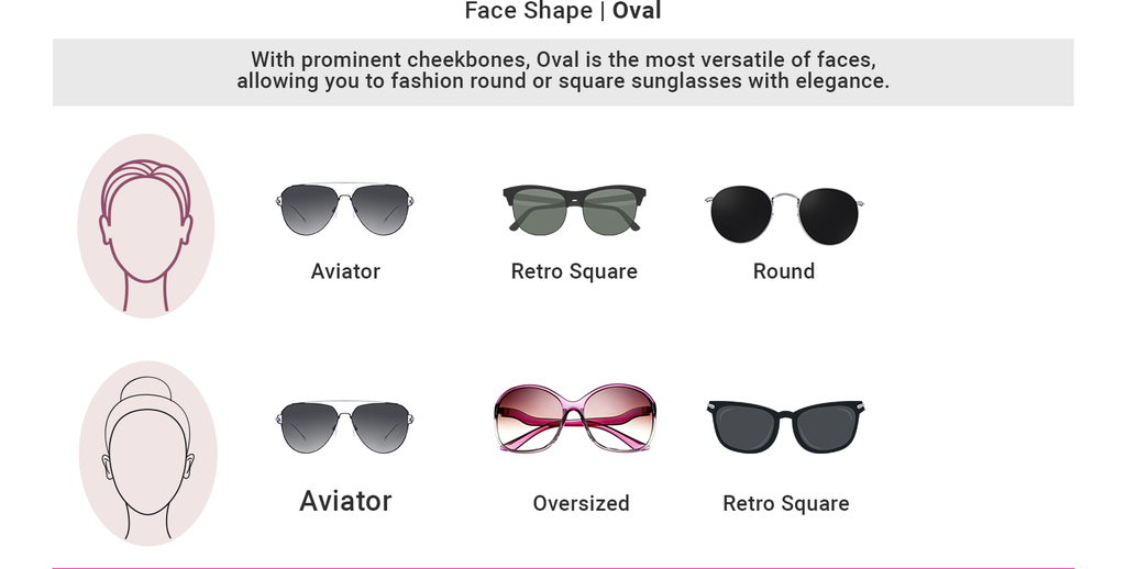 Find sunglasses as per your oval shape face