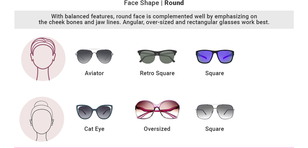 Find sunglasses as per your round shape face