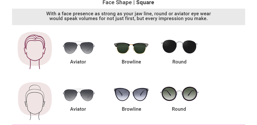 Find sunglasses as per your square shape face