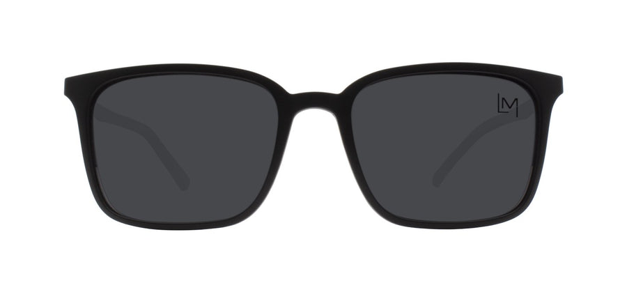 Matte Black Clip-on sunglasses front