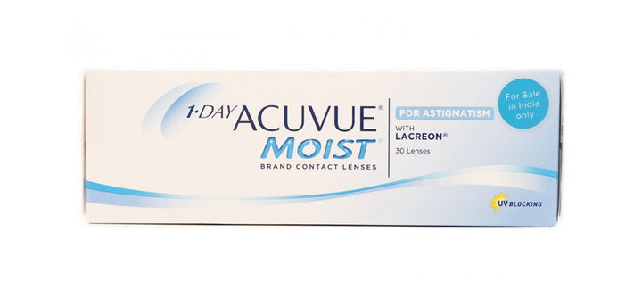 1-Day Acuvue Moist for Astigmatism 30 Lenses pack front image