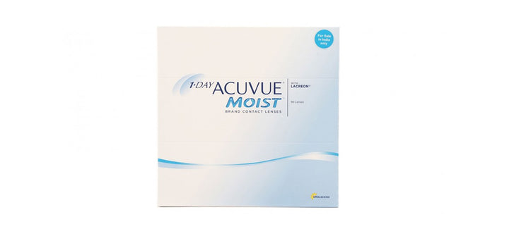 1 Day Acuvue Moist 90 pack contact lenses front image