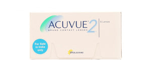 Acuvue 2 contact lenses box front image