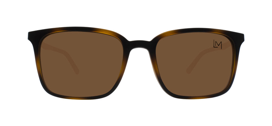 Matte Havana Clip-On sunglasses front